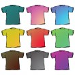 Royalty-Free Stock Vector Image: T shirts collection against white