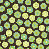 Design with seamless flowers pattern — Stock Vector