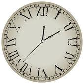 Antico orologio contro bianco — Vettoriale Stock