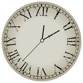 Antiguo reloj contra blanco — Vector de stock