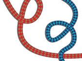 Climbing rope — Stock Vector