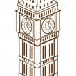 Stock Vector: Big Ben