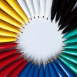 Circle of colored pens — Stock Photo