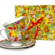 Spring tea cups — Stock Photo