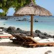 Tropical beach of Mauritius - Stock Photo