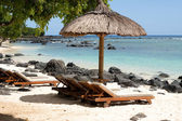 Tropical beach of Mauritius — Stock Photo