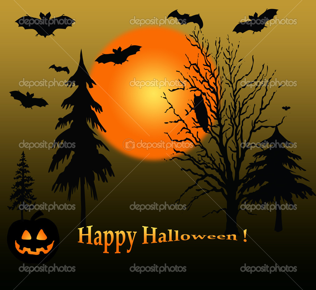 Halloween  landscape. — Stock Photo #3787047