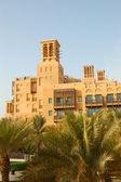 Arabic style hotel at sunset — Stock Photo
