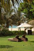 Luxurious hotel recreation area — Stock Photo
