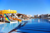 Aquapark at popular hotel — Stock Photo