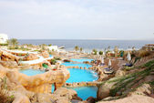 Aquapark at popular hotel near Red Sea — Zdjęcie stockowe