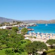 Beach and recreation area of luxury hotel, Crete, Greece - Stock Photo
