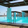 Stock Photo: Modern swimming pool at luxury hotel, Crete, Greece