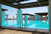 Modern swimming pool at luxury hotel, Crete, Greece — Stock Photo