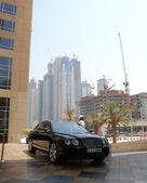 入口处的豪华酒店,迪拜,阿联酋喷泉 — ストック写真