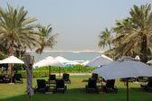 Strand bei den luxus-hotel, dubai, vae — Stockfoto