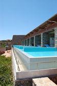 Swimming pool at the modern luxury villa, Crete, Greece — Stock Photo