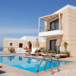 Swimming pool at the modern luxury villa, Crete, Greece — Stock Photo #3567578