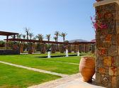 Recreation area of the luxury hotel, Crete, Greece — Stock Photo