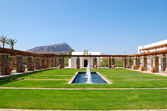 Recreation area of the luxury hotel, Crete, Greece — Stockfoto