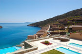 Recreaiton area of the luxury hotel, Crete, Greece — Foto Stock