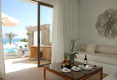Interior of the luxury villa, Crete, Greece — Stock Photo