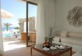 Interior of the luxury villa, Crete, Greece — Stock Photo