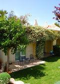 Recreaiton area of the luxury villa, Crete, Greece — Stock Photo
