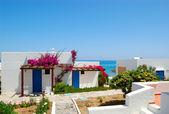 виллы рядом с пляжем в роскошный отель, крит, греция — Стоковое фото