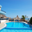 Swimming pool at the popular hotel, Crete, Greece — Stock Photo #3707767