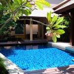 Swimming pool at the luxury villa, Pattaya, Thailand — Stock Photo #3855044