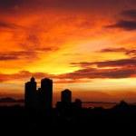 The sunset at luxury resort, Pattaya, Thailand — Stock Photo #3855047