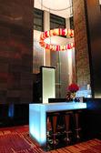 The Illuminated modern bar interior, Pattaya, Thailand — Stock Photo