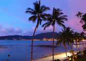 Sunset at the Patong beach, Phuket, Thailand — Stock Photo