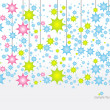 Stars horizontal - Stock Vector