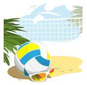 Beach Volleyball — Stock Vector