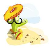 Cactus mustache — Stock Vector