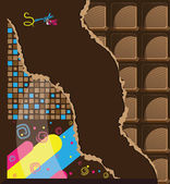 Chocolate background — Stock Vector
