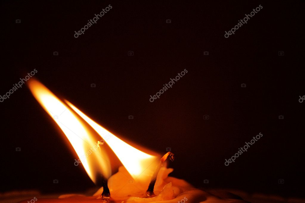 Two candles are burning — Stock Photo #3789047