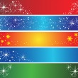 Set of 5 different holiday banners — Stockvektor