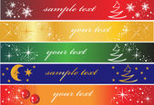 Set of 5 different holiday banners — Stock Vector