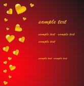 Heart valentines background — Stock vektor