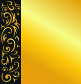Elegant vector black and gold background — Stock Vector