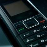 Black mobile phone — Stock Photo