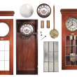 Antique pendulum clock parts — Stock Photo
