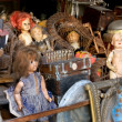Antiques and dolls — Stock Photo