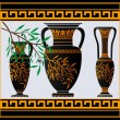 Royalty-Free Stock Vector Image: Greek amphoras and jug