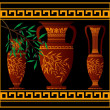 Royalty-Free Stock Vector Image: Greek red amphoras and jug