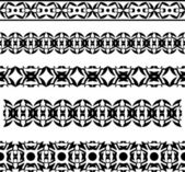 Set of arcitectural patterns — Stock Vector