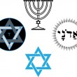 Royalty-Free Stock Vector Image: The jewish religious and magic symbols